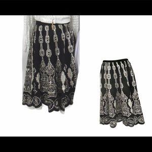 MIX NOUVEAU Women's Black/White Skirt 20W